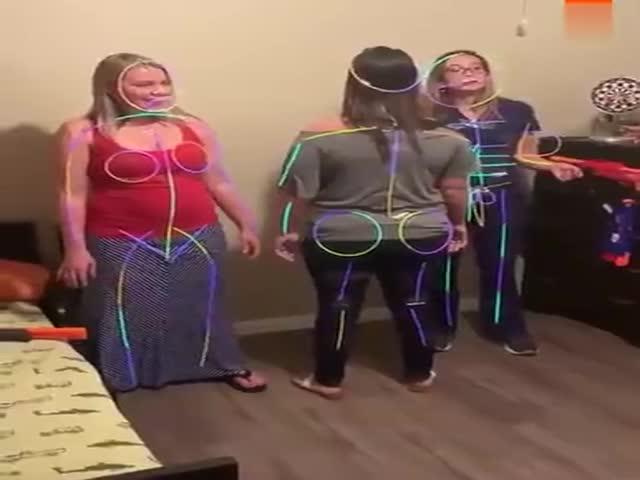 Girls Having Fun In The Dark