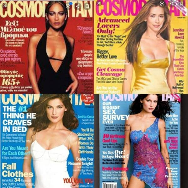 """""""Cosmopolitan"""" Covers In The Beginning Of 2000s And Now"""