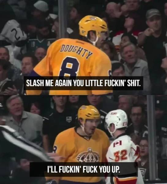 Hockey Players Are Professional Trash Talkers