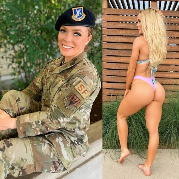 Girls With And Without Their Uniforms