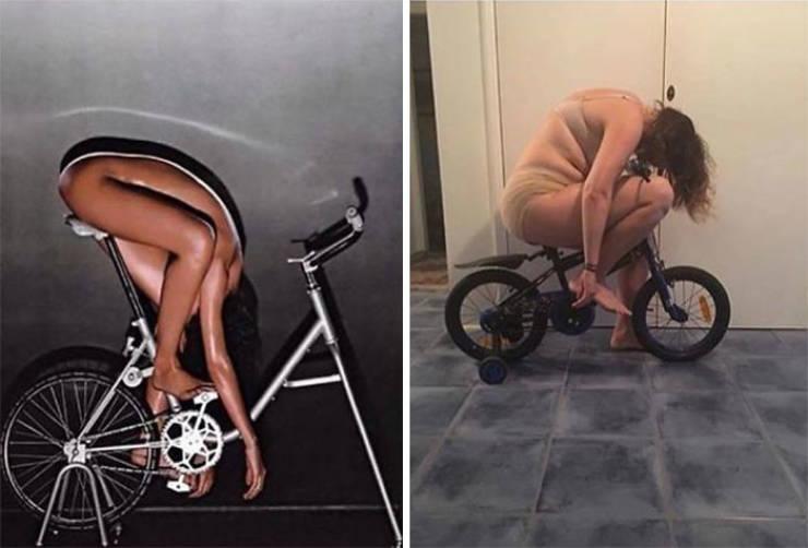 Woman Recreates Celebrity Photos In Funny Ways