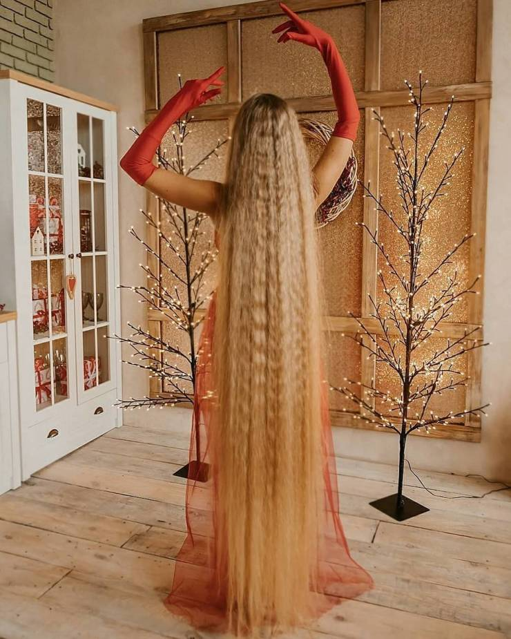 Meet Ukrainian Rapunzel, Whose Hair Is 1.8 Meter Long