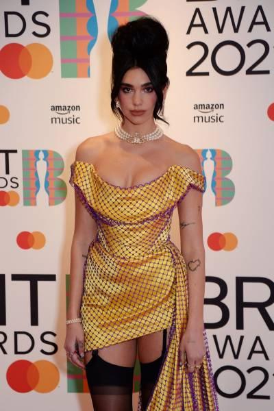 """Dua Lipa At """"Brit Awards"""""""