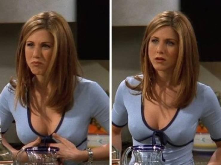 "Jennifer Aniston Talks About Her Nipples On ""Friends"""