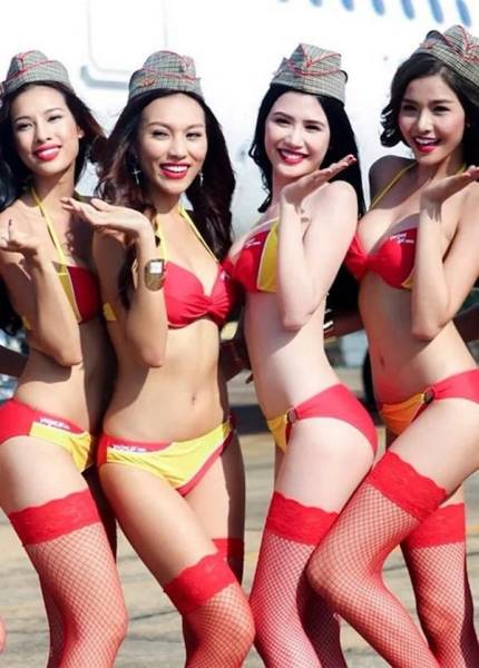 Let's Take Off With These Hot Flight Attendants!