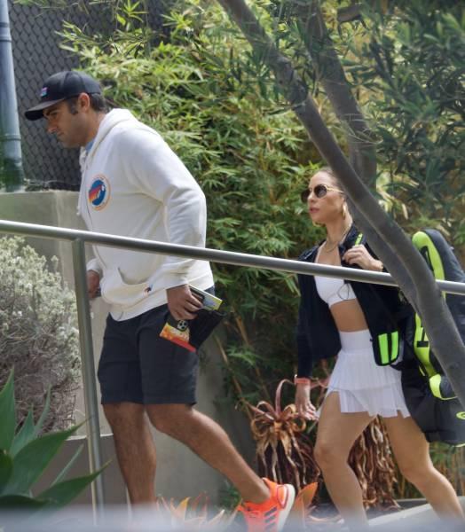 Lady Gaga On The Tennis Court