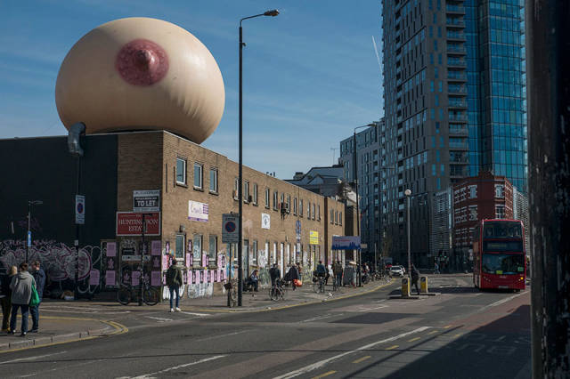 Nothing Special – Just A Giant Inflatable Boob Hovering Over London