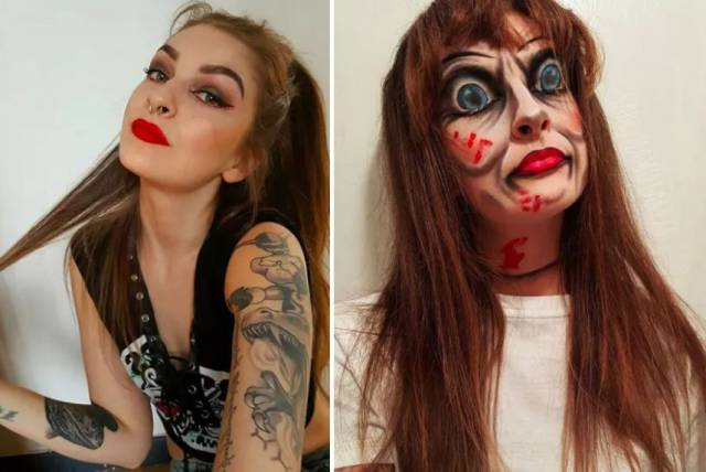 Halloween Makeup Is What Nightmares Are Made Of