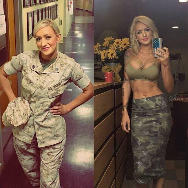 Uniform Ladies Don't Always Wear Their Uniforms