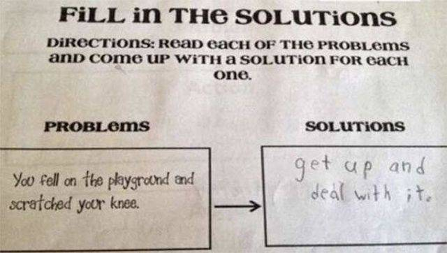 Kids Have Their Own Way Of Doing Those Homeworks