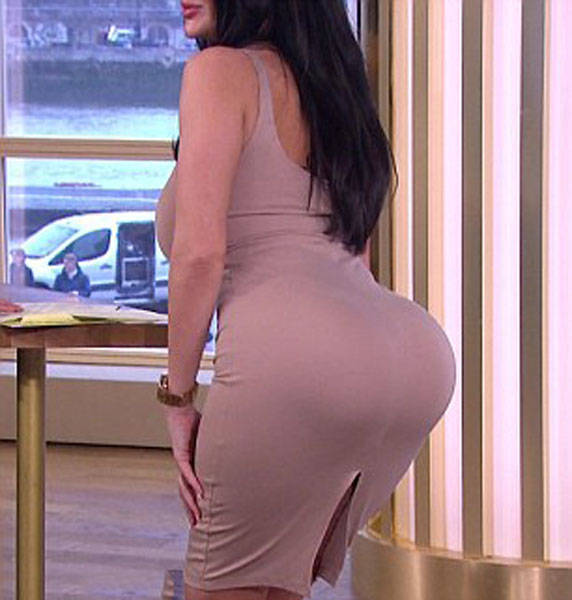 Her Giant Bum Doesn't Allow Her To Sit Anymore