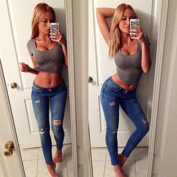 Those Jeans Hold 'Em Pretty Tight!