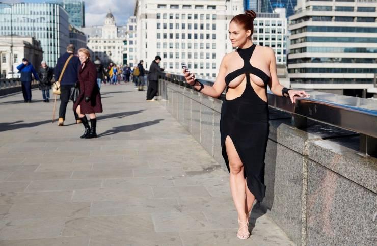 Kim Kardashian's Revealing Dress Gets A Street Test