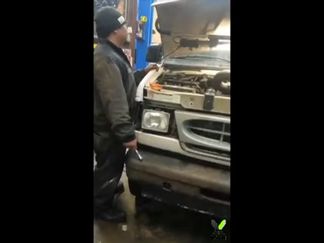 When Your Friend Starts His Engine For The First Time After Repairs