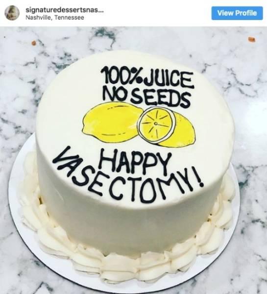 Vasectomy Day Cakes Celebrate The Snip-Snip