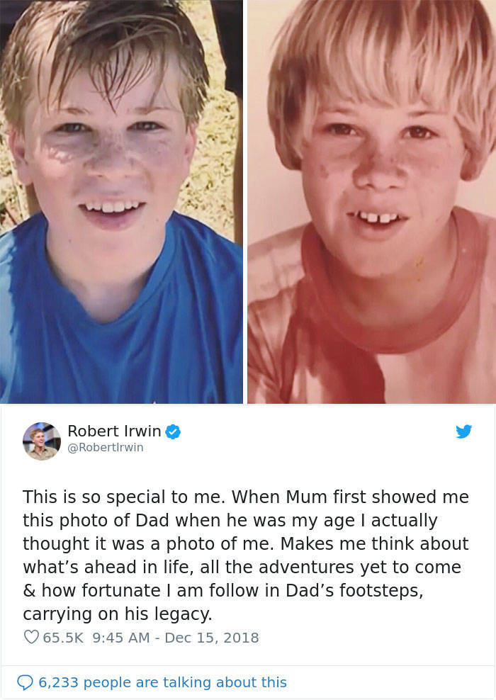 Irwin Father And Irwin Son Comparison Proves That Genetics Do Work As Intended