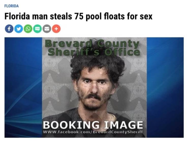 Florida Keeps The Steady Supply Of WTF Headlines
