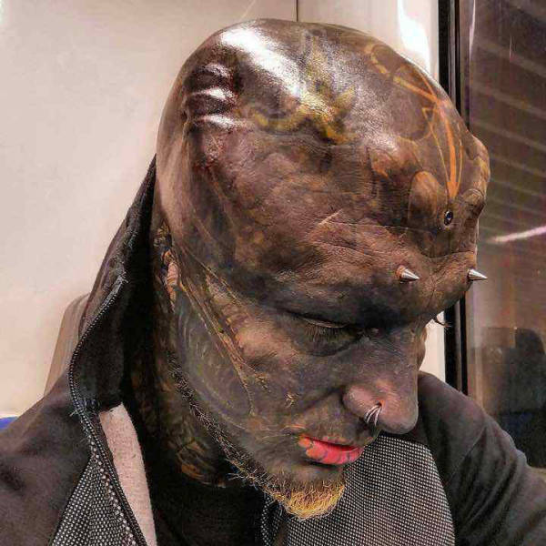 Guy Wanted To Turn Into A Black Alien