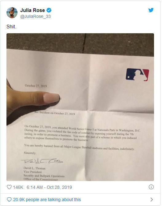 "Instagram ""Models"" Flash Their Boobs At An MLB Game, Get Banned Indefinitely"