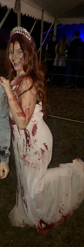 Carrie Costume Is Not The Best Outfit For A Car Crash