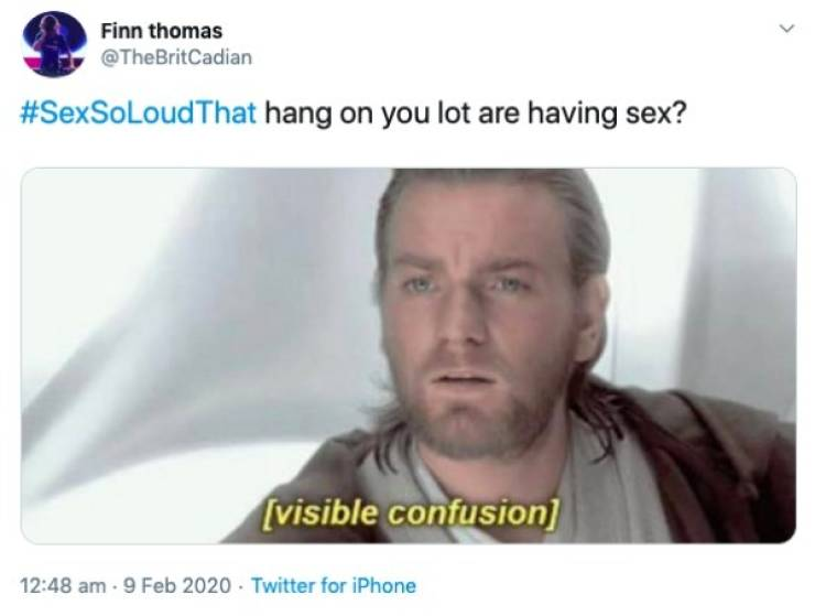 When Sex Is So Loud That…