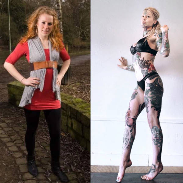German Woman Left Her Job To Become A Tattoo Model