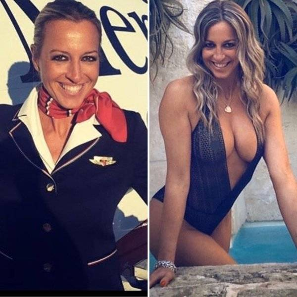 Fly Away With These Hot Flight Attendants