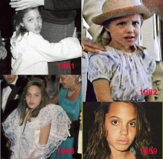 Angelina Jolie: from little girl into a beautiful woman