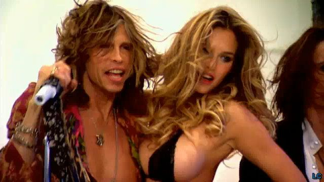 Bar Refaeli in her lingerie doing a photoshoot with Aerosmith for Victoria's Secret (13 pics)