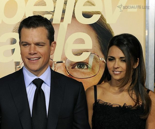 Matt Damon and Luciana Barroso (12 pics)