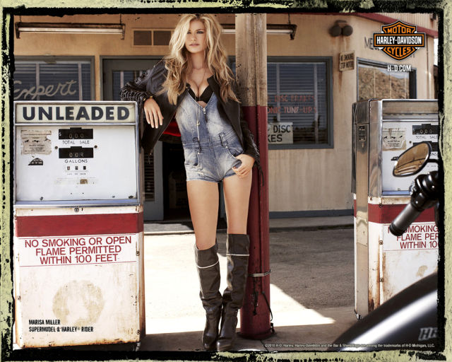 Marisa Miller in a Very Sexy Photoshoot on a Harley Davidson (7 pics)