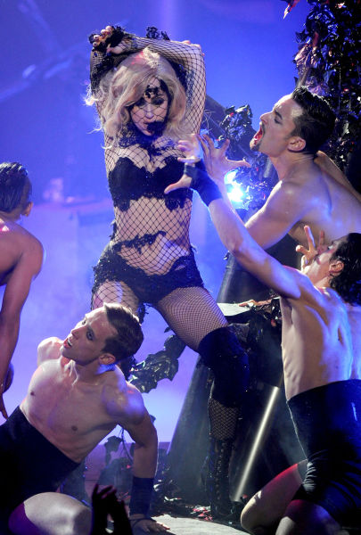 Lady Gaga in One of Her Extravagant Stage Outfits (12 pics)