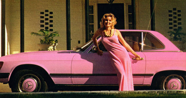 Sexy Playboy Playmates of the Year and Pink Cars (38 pics)