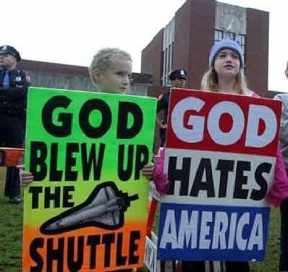 Hateful Signs from the Kids of Westboro Baptist Church