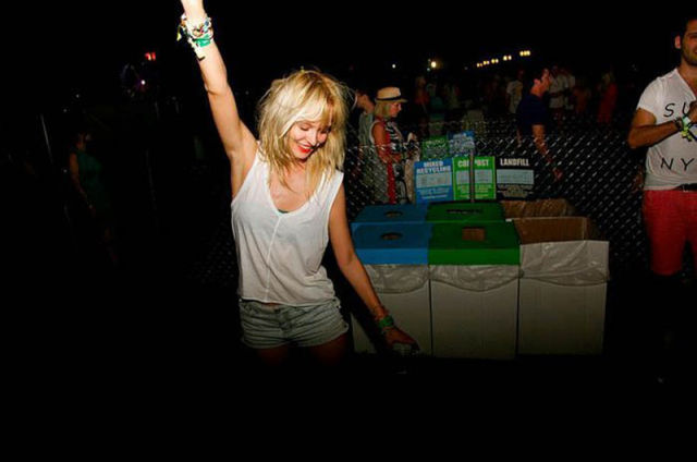 Coachella Music Festival: Half Naked Hot Young White Chicks Dancing
