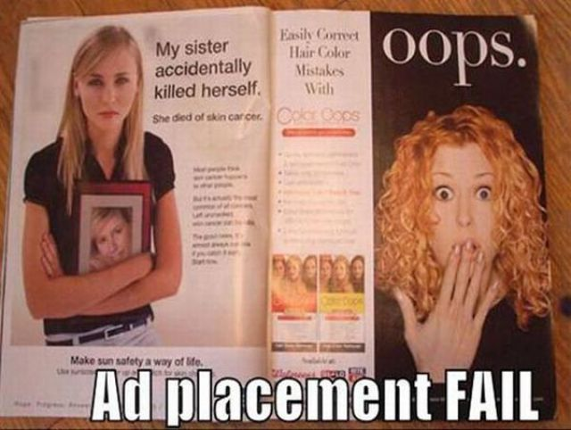 Advertisements in Bad Places