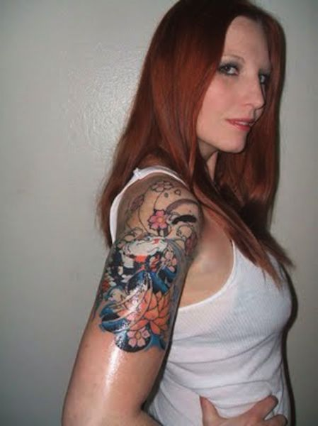 Hot Chicks With Sleeve Tattoos