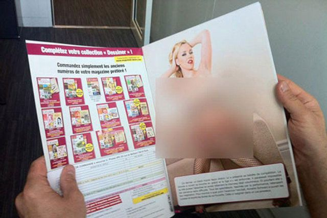 Porn Photos in a Magazine for Drawing