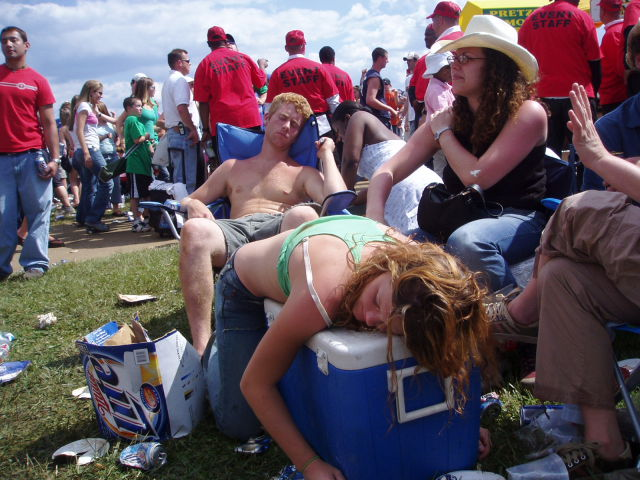 The Drunken Mayhem of the Preakness Infield