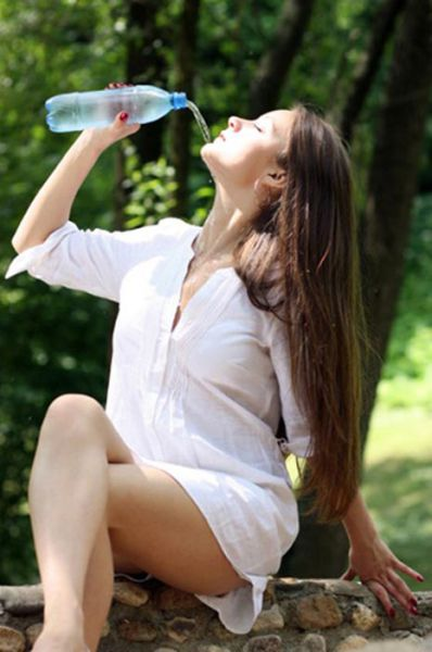 Girls Failing to Drink Water
