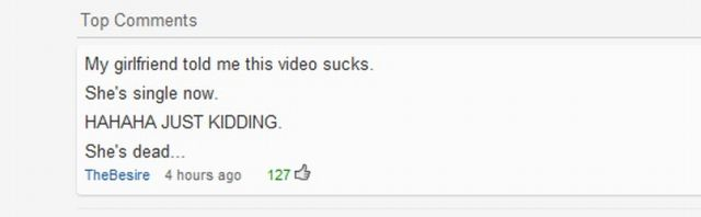 Really Funny YouTube Comments. Part 2