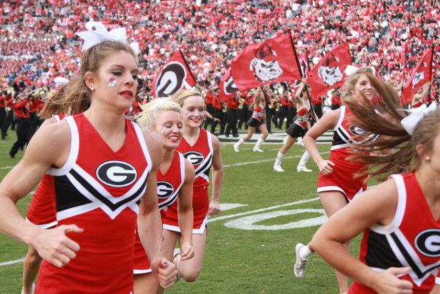 Georgia Cheerleader Gets Buff
