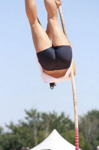 Seductive Pole Vaulting Girls