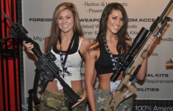 Cute Girls and Guns Go Well Together