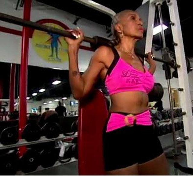 Female Bodybuilder Is Young In Spirit
