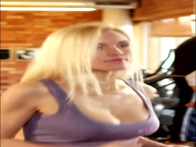 Hot Girl Working Out in Slow Motion