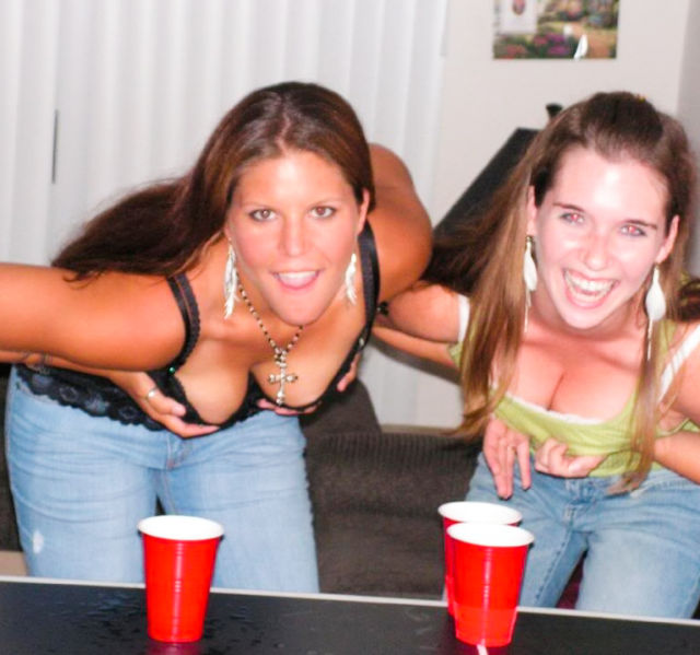 Beer Pong Gets Heated with These Girls