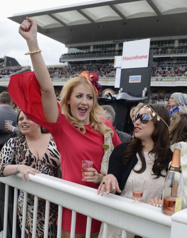 British Girls Get Dolled Up for Ladies Day Debauchery