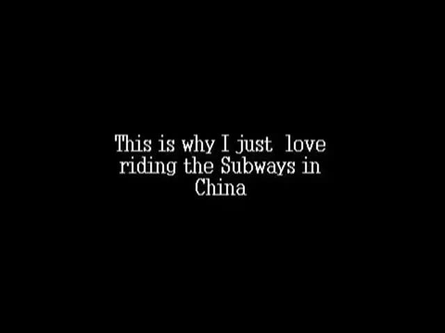 Average Day Riding the Subway in China?  (VIDEO)