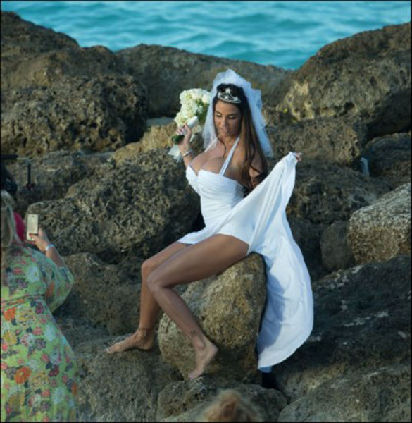 The Bride with the Eye-Catching Chest